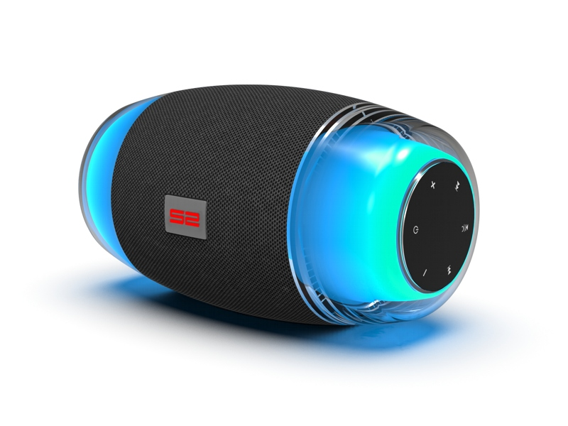 Outdoor Speaker S-Bean with Wireless BT and LED RGB Light Effects